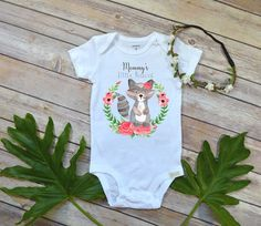 Baby Girl Onesie®, Little Rascal, Boho Baby Clothes, Baby Shower Gift, Raccoon Baby Onesie, Pregnancy Reveal, Baby Girl Clothes, Daddy gift