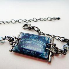 Ouija by moonlight bracelet Ouija board by Resin8ingDarkness on Etsy