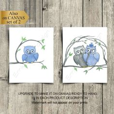 Owl Nursery Decor, Baby Room Decor, Nursery Wall Art, Wall Decor, Baby Boy Nurseries, Owls, Blue Grey, Wall Art Prints, Shops