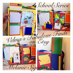Premade School Days Memories Album grade by VelmasFabulousFinds