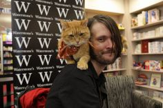 Busy @ another book signing - from FB page James Bowen & Street Cat Bob