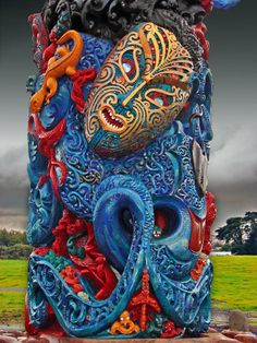 Sinister Beauty - Maori Carving Art - Wiri, Auckland, NZ