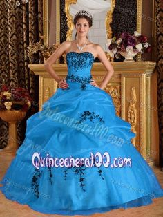 Buy fashionable strapless embroidery sweet sixteen dress with pick ups from vintage quinceanera dresses collection, sweetheart neckline ball gowns in aqua blue color,cheap floor length satin organza dress with lace up back and for sweet 16 quinceanera . Red Sweet 16 Dresses, Sweet Sixteen Dresses, Light Pink Quinceanera Dresses, Quinceanera Ideas, 15 Birthday Dresses, Girls Dresses, Prom Dresses, Aqua Dresses, Dresses 2013