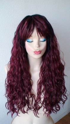summer special burgundy red black ombre colored wig by kekeshop 9750 - Colored Wig