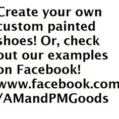 Create your own custom pair of shoes!