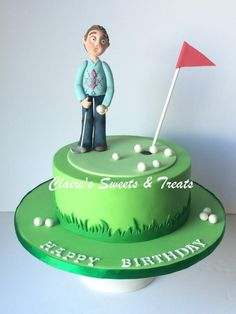 grumpy grandad golfer by clairessweets