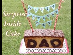 Surprise Inside Cake | Father's Day Special - YouTube
