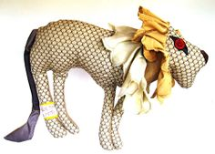 nl - awesome animals as toys or cushion - creative - handmade - recycled fabric - empowerment - made in South Africa South African Design, African Crafts, Over The Moon, Recycled Fabric, Cushion, Lion Sculpture, Arts And Crafts, Statue, Toys