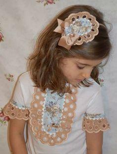 diy camiseta Fashion Kids, Mj Kids, Girl Dress Patterns, Girls Blouse, Fairy Dress, Cute Tshirts, Baby Sewing, Diy Clothes, Hair Bows