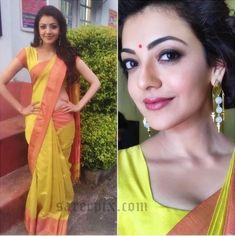 Beautiful Kajal agarwal in Gaurang shah saree posted on Twitter. The…