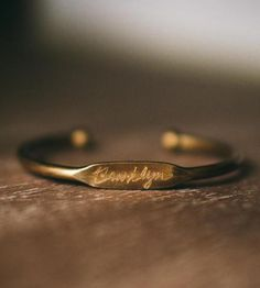 Custom Engraved City Bracelet by Pumpkinseed Jewelry on Scoutmob Shoppe