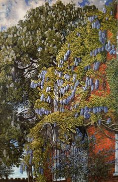 Wisteria at Englefield - Stanlet Spencer - WikiArt.org -