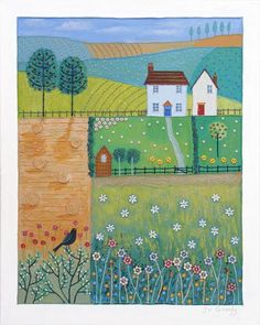 Patchwork Landscape by Josephine Grundy