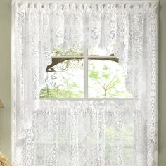 """Old World Style Floral Heavy Lace Kitchen 30"""" Curtain Valance"""