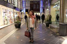rosa trifft bordeaux - Winter City Look