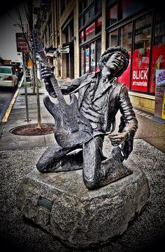 Jimmie Hendrix statue, Seattle