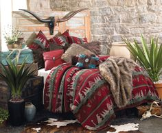 Yellowstone Bedding...tans, browns, reds with touch of blue & turquoise....ahhhhh!