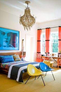 ~Colour Vavoom~ Bedroom Decorating Ideas: Modern and Sophisticated - Traditional Home®