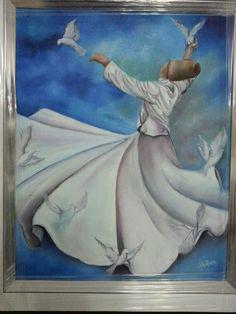 Yagliboya çalışmam Composition Painting, Texture Painting, Islamic Paintings, Dance Paintings, Turkish Art, Islamic Art Calligraphy, Egyptian Art, Art Pictures, Pop Art