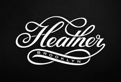 Heather Brooklyn – Lettering designed for a Brooklyn based creative studio – by Michael Spitz.