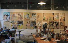 Anna Schuleit's Studio