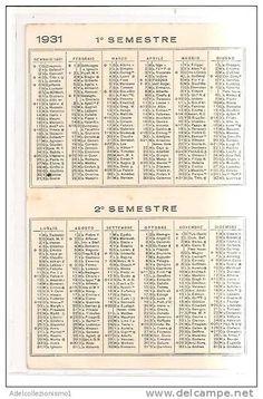 calendario distillerie p. sota & c.  anno 1931