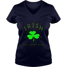 Funny Vintage Style Tshirt for Orange Irish Until Further Notice With Large Shamrock Kids' Shirts - Kids' T-Shirt #gift #ideas #Popular #Everything #Videos #Shop #Animals #pets #Architecture #Art #Cars #motorcycles #Celebrities #DIY #crafts #Design #Educa