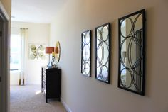 #wallart #mirrors leading to the master #bedroom of the Lewis model home at Arcadia Springs in Martinsburg, WV- http://arcadia-springs.com/arcadia-springs/our-homes/the-lewis-arcadia-springs/