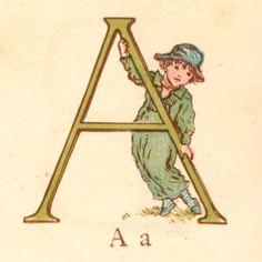 a Kate Greenaway alphabet