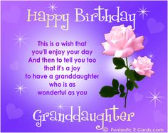 Happy Birthday Wishes For Granddaughter Happy Birthday To A Very Happy Birthday Wishes For A Granddaughter