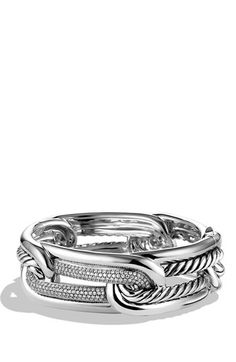 David Yurman 'Labyrinth' Link Bracelet with Diamonds available at #Nordstrom