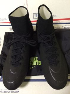 Nike Mercurial Vapor Superfly IV FG - Soccer - Cleats - Academy Pack - Blackout