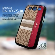 Coach Inspired Red Brown - For Samsung Galaxy