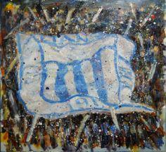 Jose Gomez • LA BLANQUIAZUL. Oleo. 80 x 80 cm.