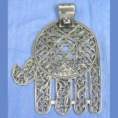 Africa | Rare Jewish Khamsa with intricate pieced work | origin; Meknes, Morocco | c. 1910