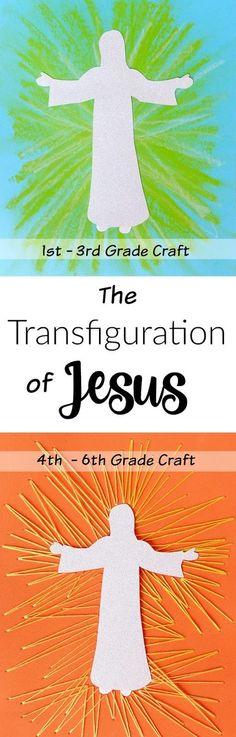 Sunday school: crafts for the Transfiguration | easybreezysundayschool.blogspot.com