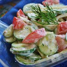 Creamy Cucumber Tomato Salad, photo by naples34102