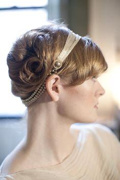 Gold Art Deco Headband by annamainsdesigns on Etsy.