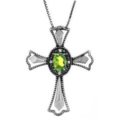 Diamond Peridot August Birthstone Cross Pendant In Black Rhod White Gold Gemologica.com offers a unique simple selection of #handmade #fashion #fine #jewelry for #men #women #children to make a statement. We offer #earrings #bracelets #necklaces #pendants #rings with #gemstones #diamonds #birthstones available in Sterling #Silver 10K 14K 18K #yellow #rose #white #gold #titanium silver #metal. Shop Gemologica jewellery now for cool cute design ideas Gemologica Customer Reviews