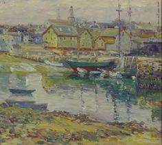 """""""Rockport,"""" Charles Salis Kaelin, oil on canvas, 18 x 20"""", Cincinnati Art Galleries."""