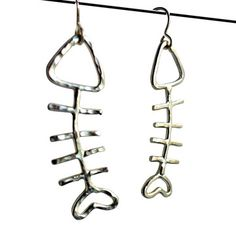 Fish Earrings Silver, $75, now featured on Fab.