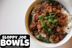 Sloppy Joe Bowls