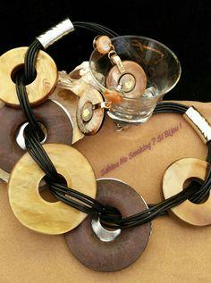 Collana girocollo  in legno e resina con orecchini ##sabbinadasabina... vetrina #sabinanosmokingsibijou