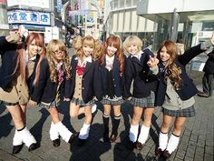 Image about girl in Gyaru style by ✝Ikari✝ on We Heart It Gyaru Fashion, Kawaii Fashion, Lolita Fashion, Kei Visual, Lolita Mode, Japanese School Uniform, Weird Fashion, Japanese Street Fashion, Girly Outfits