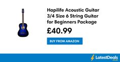 Hapilife Acoustic Guitar 3/4 Size 6 String Guitar for Beginners Package, £40.99 at Amazon