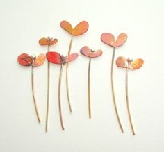 'seedlings'  copper and silver by Josephine Gomersall designs