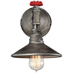 """Eurofase Zinco 14"""" High Aged Silver Wall Sconce - #9F048 