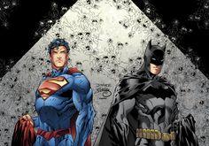 NEW DC COMICS ART THE NEW 52 2013  | Batman and Superman New 52 Color by ~LazerBat on deviantART