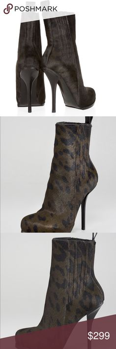 ALEXANDER WANG Aymeline Leopard Print Heeled Boots These super chic high heeled booties have a cool leopard print and are made of luxuries calf hair. NEVER before worn - in pristine condition! Perfect to wear with ripped jeans for daytime and dressed up at night as well. Alexander Wang Shoes Heels