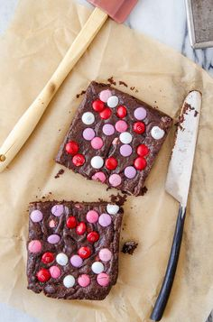 Small batch brownie recipe. Perfect Valentine's Day dessert for two.